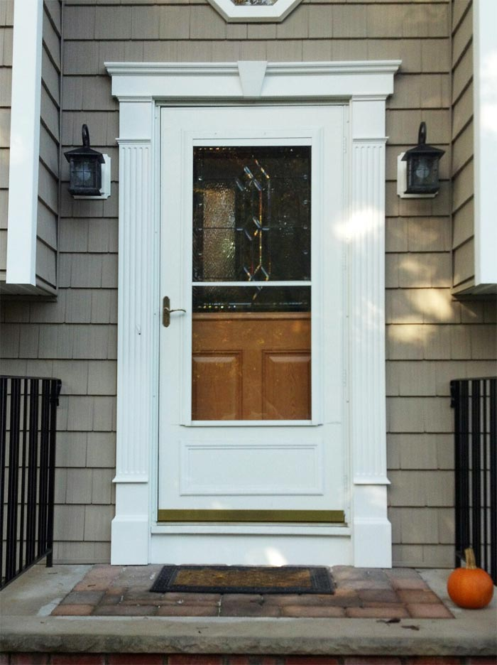 Decorative Front Door Surround Fluted Molding In Randolph