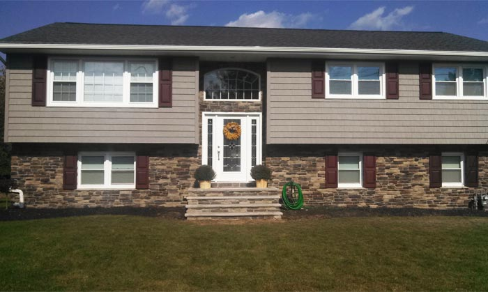 Decorative Stone Siding For Homes : Replacement vinyl siding and decorative stone in whippany