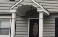 Vinyl Siding Replacement and Portocal Front Porch in Teaneck, NJ