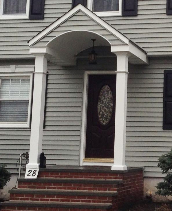 Vinyl Siding Replacement And Portocal Front Porch In Teaneck NJ Bergen County