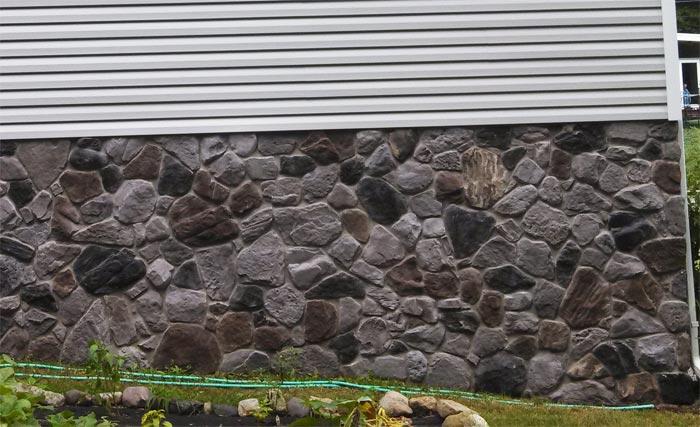 Remodeled Foundation With Decorative Stone Ringwood Nj