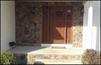 Decorative Stone Siding and Front Door in New Providence, NJ