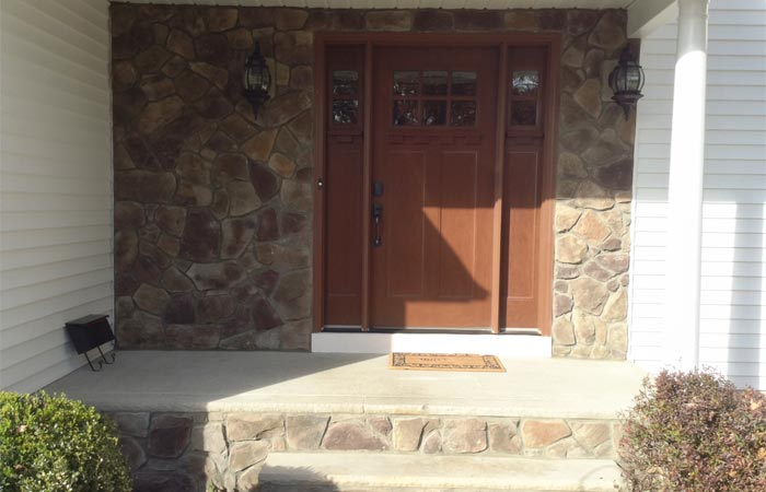 Decorative Stone Siding Front Door In New Providence Nj